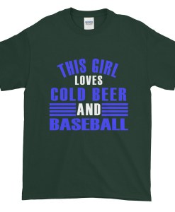 Girl loves Cold Beer and Baseball TShirt