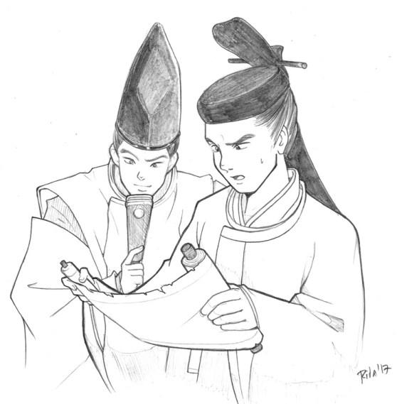 Hideaki y Mansai, por Rita Muñoz