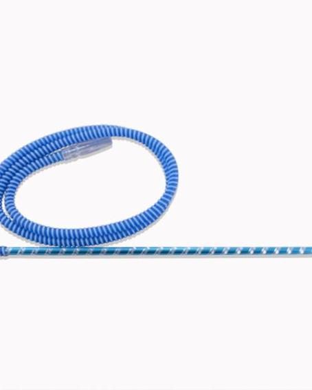 french hose shisha pipe blue