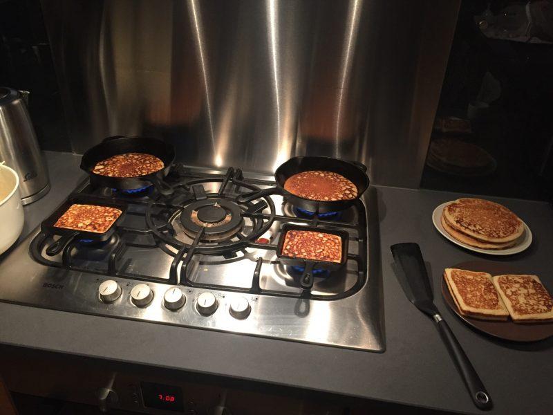 Fluffy pancakes en papacakes
