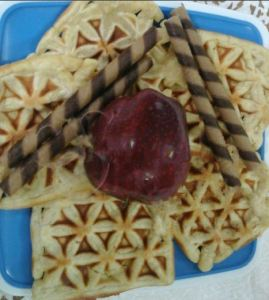 Eggless Wheat Waffles