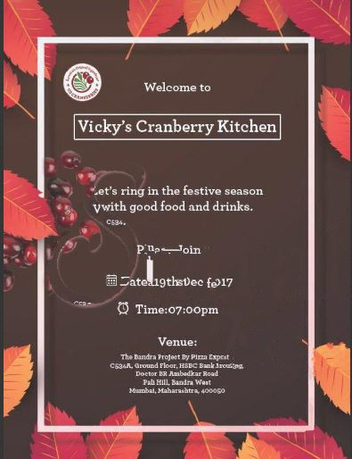 CRANBERRY GALORE in VICKY'S KITCHEN!