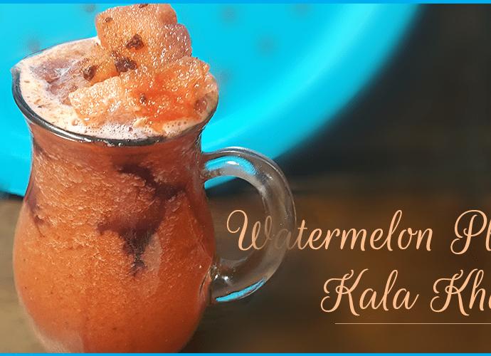 WATERMELON PLUM JUICE !!! with a Naughty Kala khatta Twist
