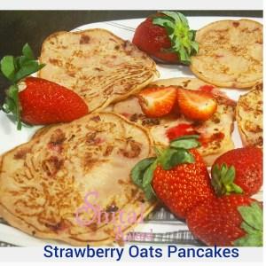 Strawberry Oats Pancakes
