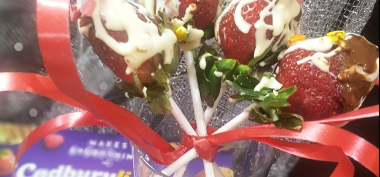 Valentine's Strawberry Bouquet