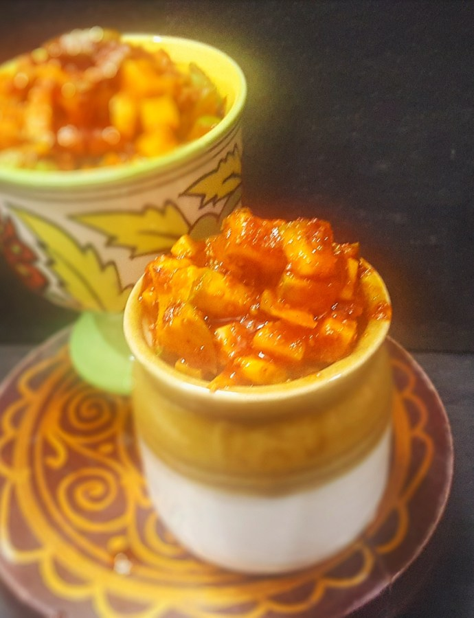 Instant Raw Mango Pickle ! A Summer favourite