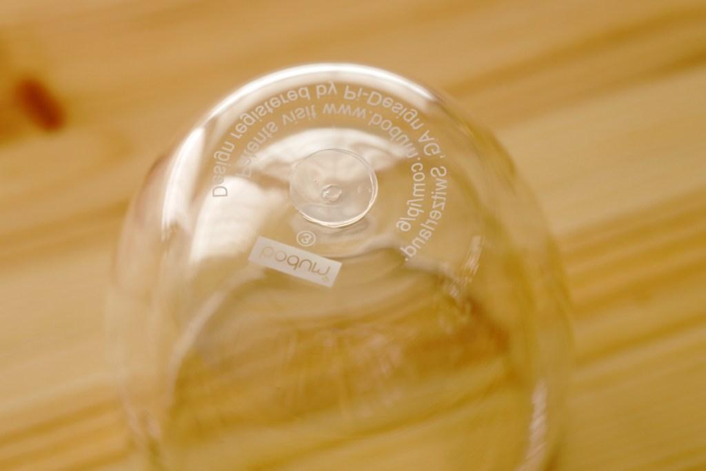 底面のシリコンベント ボダムのダブルウォールグラス パヴィーナ