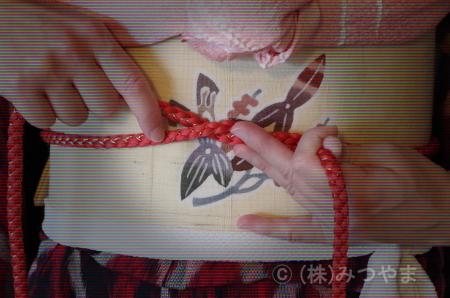 帯締めの結び方2