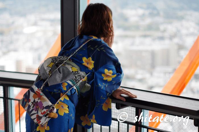 京都タワーから見下ろす風景