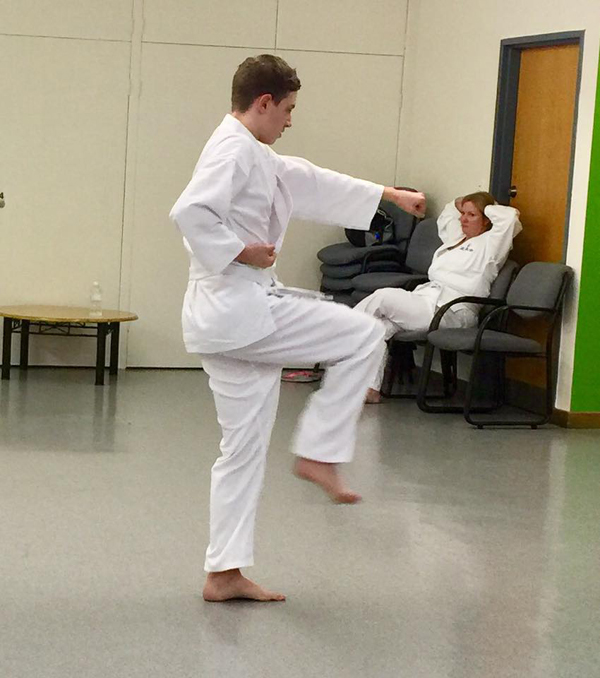 Caleb's first karate grading