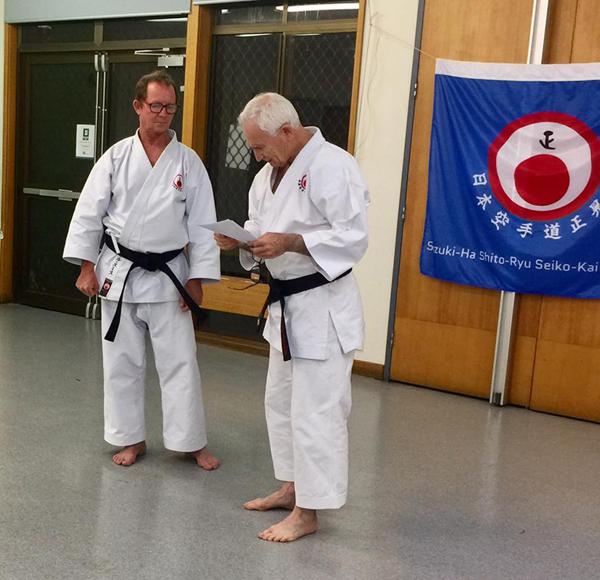 Sensei Neil Smith and Shihan Ron Matthews Karate Instructors