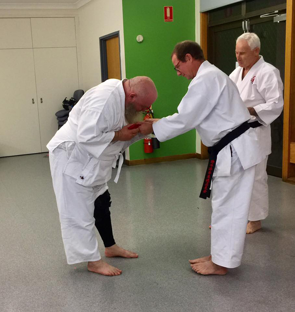 Billy's first karate grading