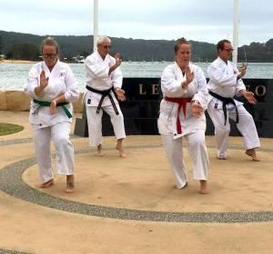 Adult karate students