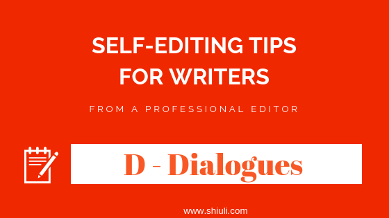 Editing dialogues in fiction