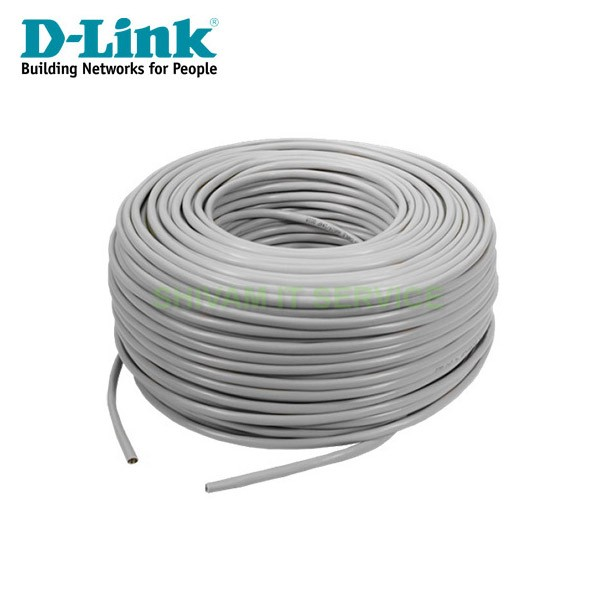 DLink 100 mtr Cat 6 Lan UTP Cable, Gray