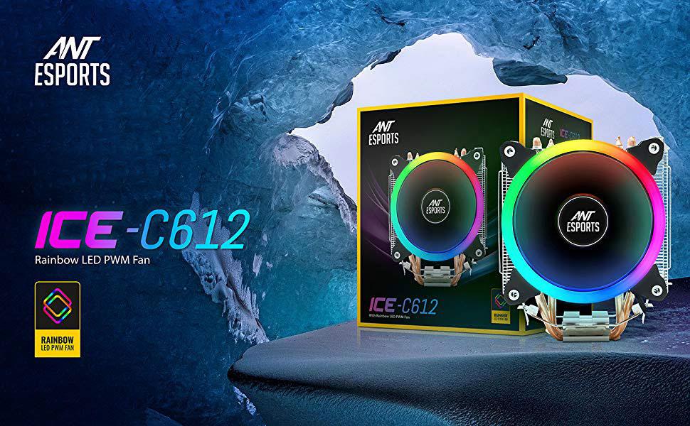 ant esports ice c612 cpu cooler fan 5
