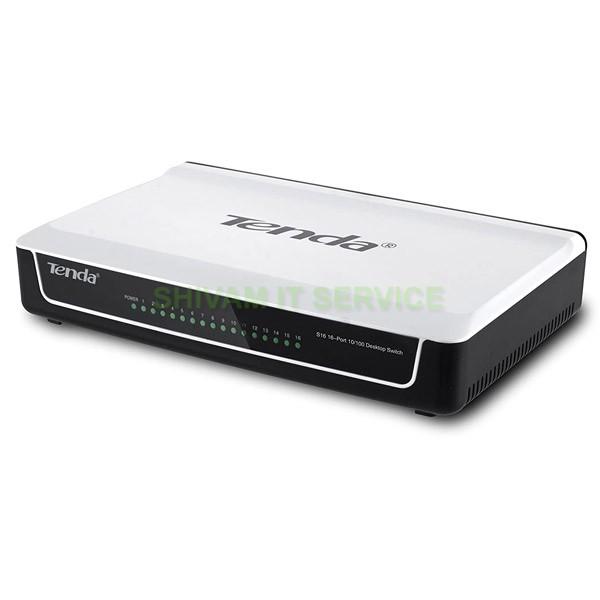 Tenda S16 16Port Unmanaged 10/100 Network Switch