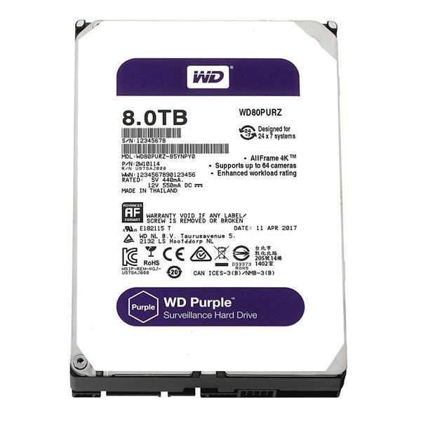 WD Purple 8TB Surveillance HDD