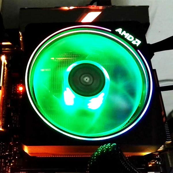 amd ryzen wraith prism led rgb cooler fan 3