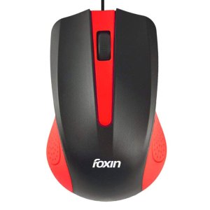 Foxin Classy-Red Wired Optical Mouse