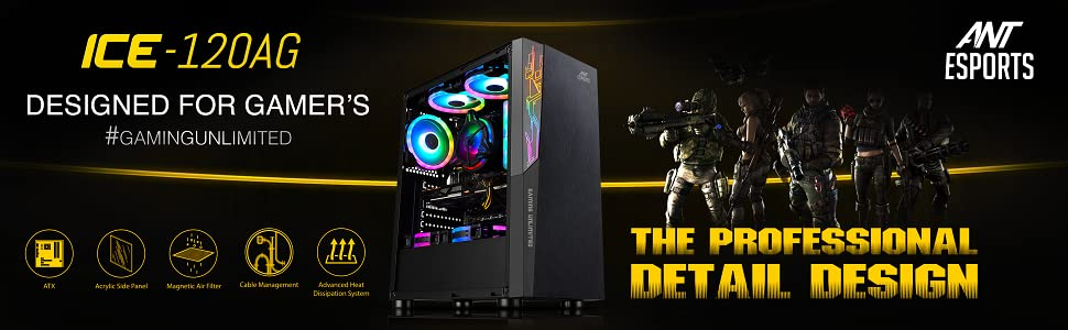 Ant Esports ICE-120AG Mid Tower Gaming Cabinet