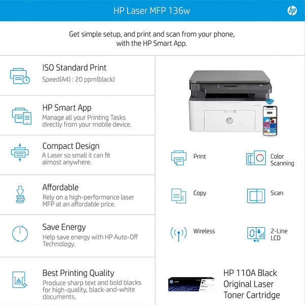 hp mfp 136w laser printer 6