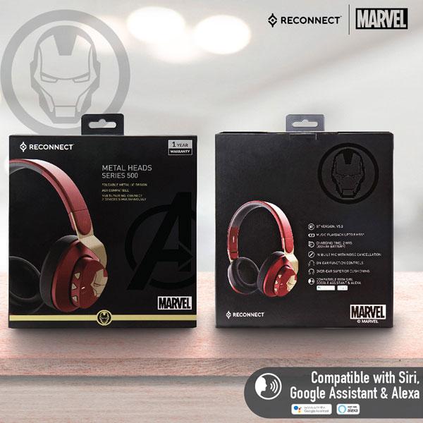 reconnect 501 marvel iron man wireless headphone 6