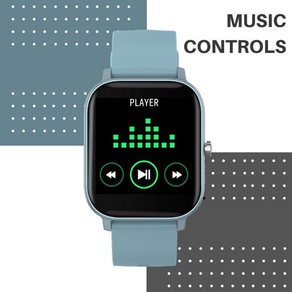fire boltt full touch smart watch blue 8