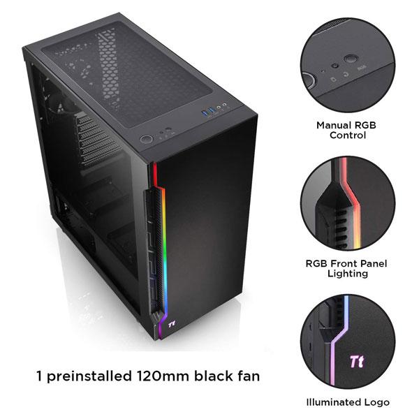 thermaltake h200tg rgb gaming cabinet 4