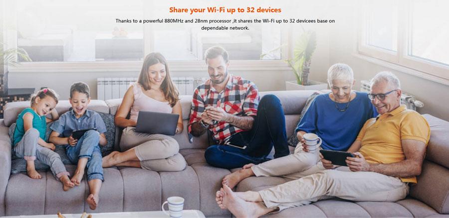 Tenda 4G03 N300 3G/4G LTE SIM Router Wi-Fi
