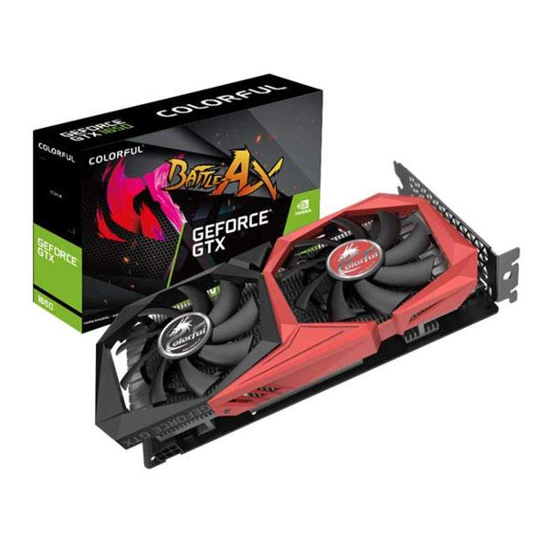 Colorful GeForce GTX 1650 NB 4GB GDDR5 Twin Fan Gaming Graphics Card G-C1650NB-4G-V
