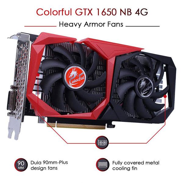 colorful gtx 1650 nb 4gb gddr5 graphics card 2