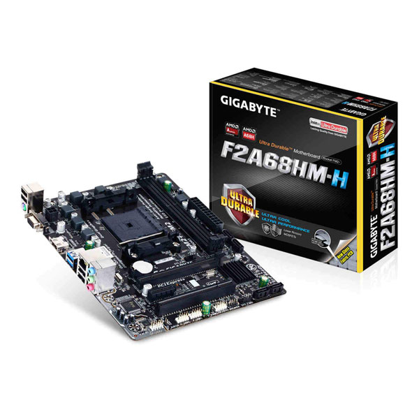GIGABYTE AMD A68, FM2+ and FM2 Socket,Ultra Durable Motherboard GA-F2A68HM-H