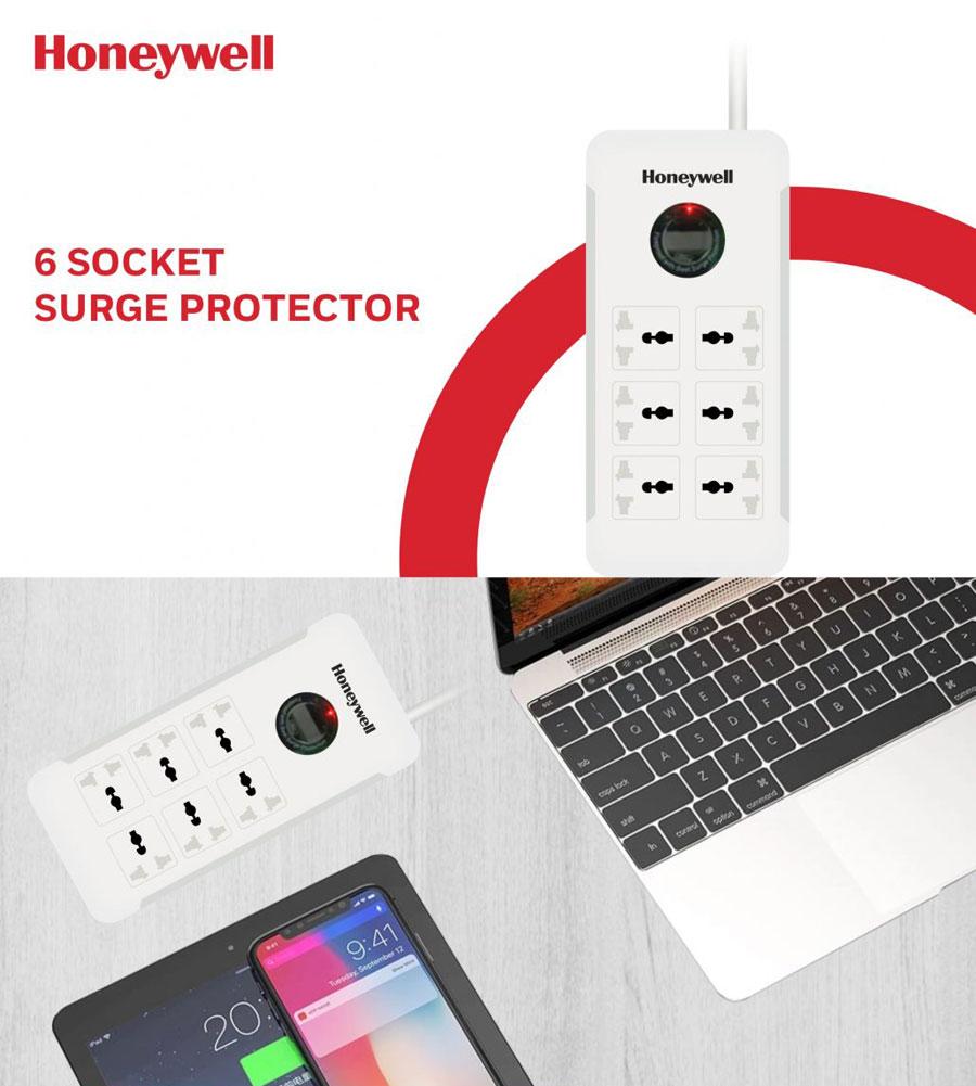 honeywell 6 socket surge protector 7