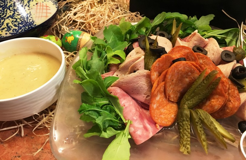 Ploughman's platter with pickled vegetables
