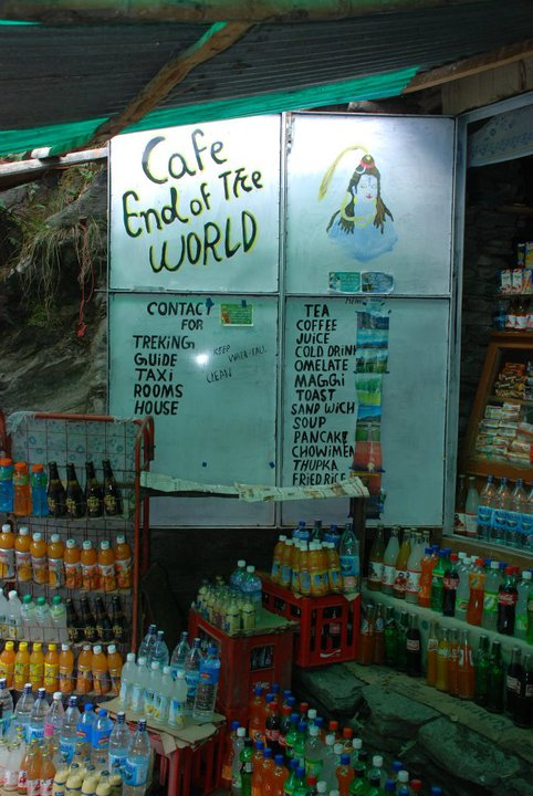 cafe end of the world at bhagsunag waterfalls in mcleodganj dharamshala