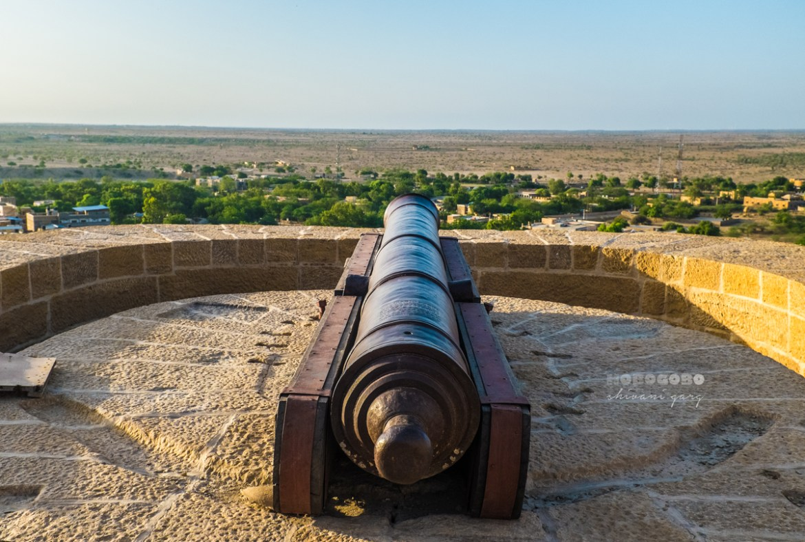 canon at Jaisalmer Golden fort