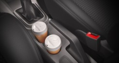 Image 13 Cup holder at the rear of the handbrake