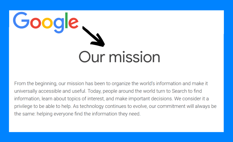 Google is a user experience company.