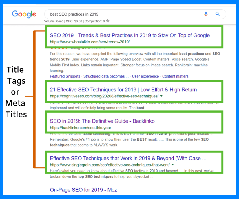 What title tags for SEO?