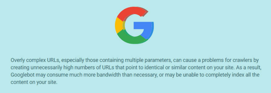 Google's guidelines about URLs.