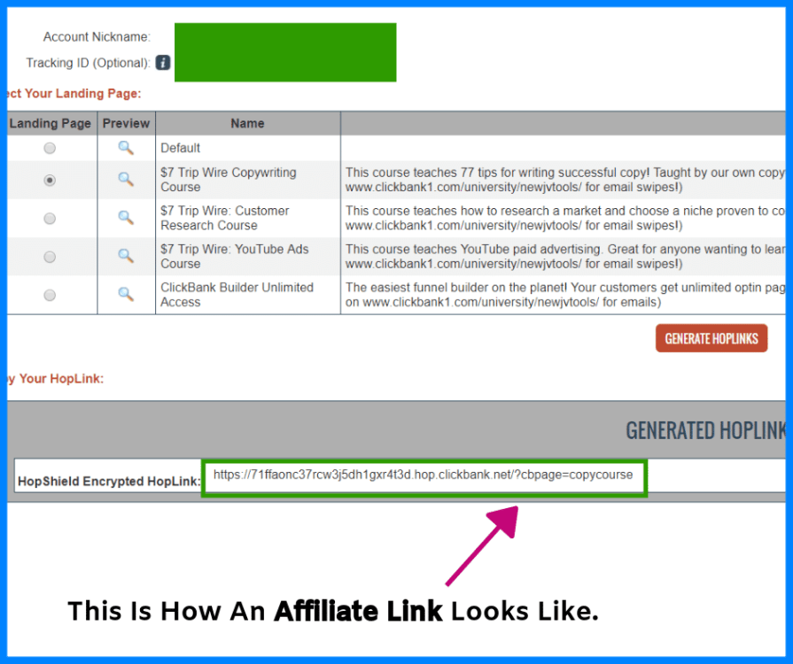Affiliate links explained.