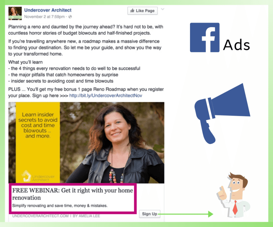 This is how Facebook ads work.