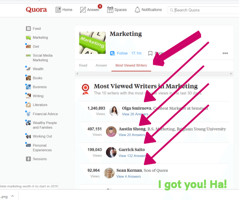 Most viewed writer on Quora gives answer to popular topics which are likely to work in sales.