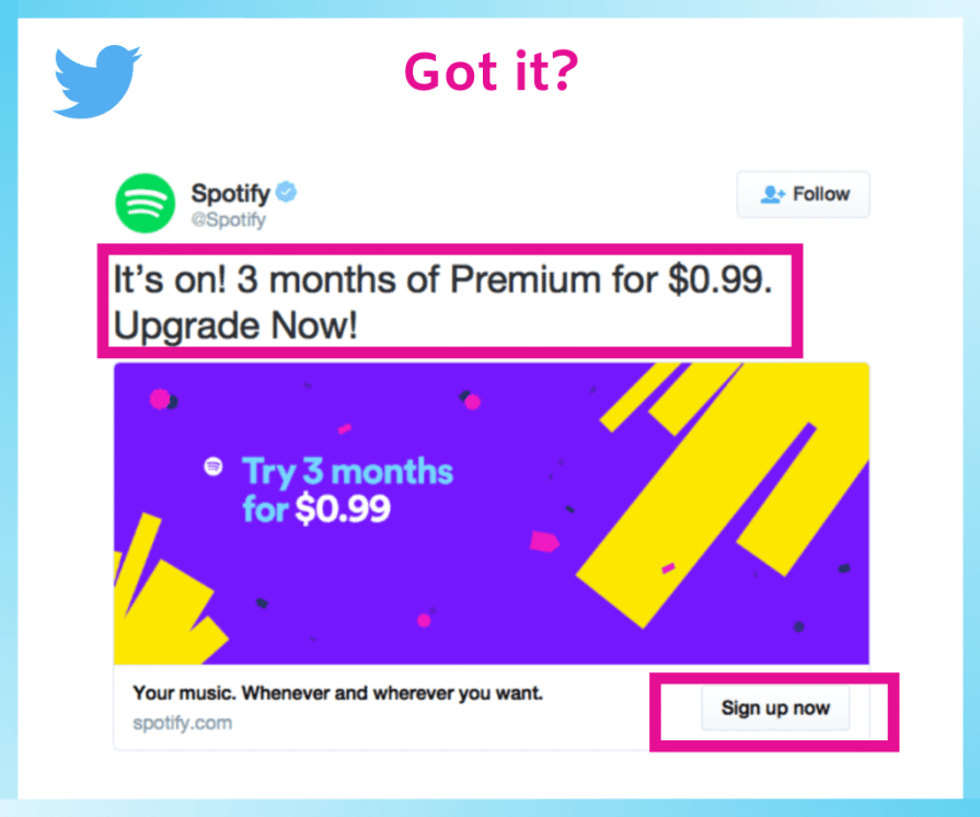 Example of twitter ads.