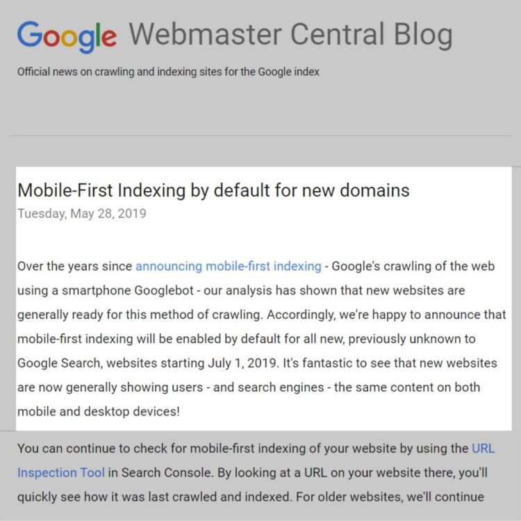 Mobile friendliness guidelines by Google.