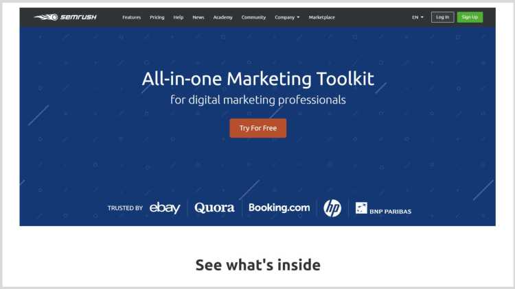 Example of a Click-Through Landing Page.