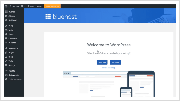 How to successfully start a blog: WordPress dashboard.