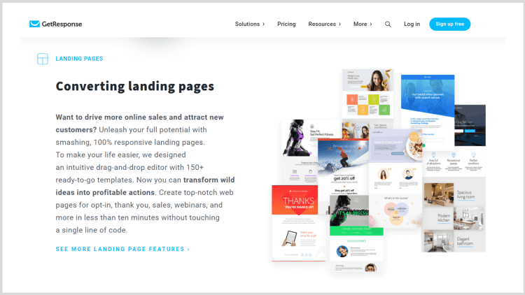 How to create landing pages with GetResponse - the all in one marketing tool.