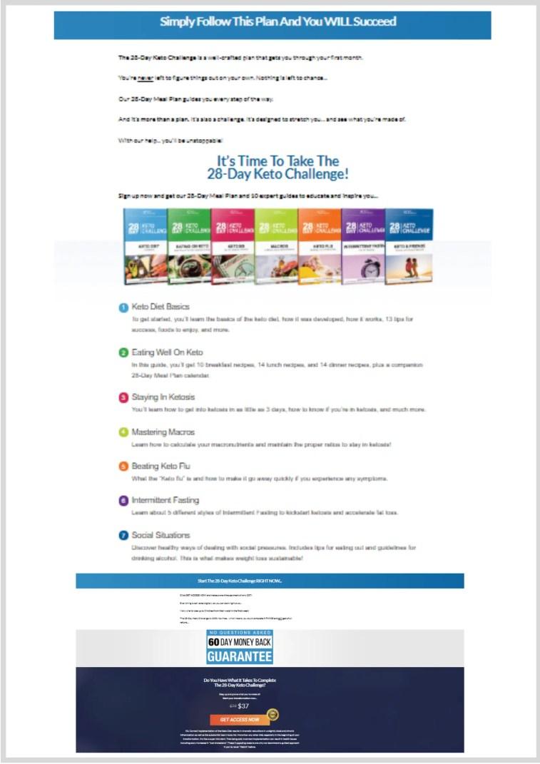 An infomercial landing page.